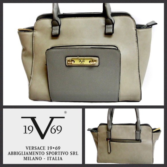 743c0c0feae Versace Bags | 1969 Italia Authentic Grey Satchel | Poshmark